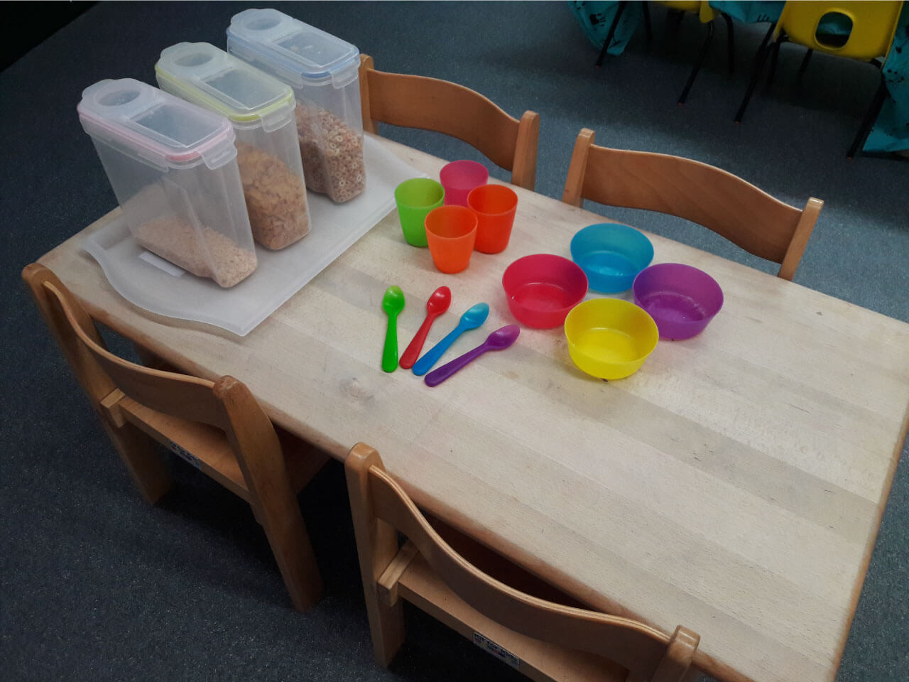 Breakfast meal at Nursery