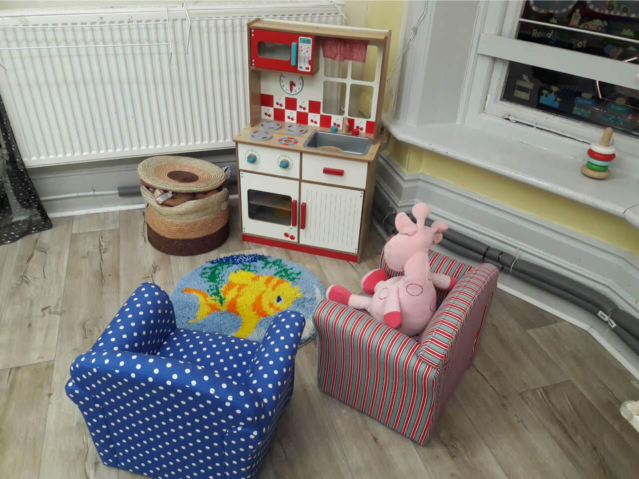 Creative play area in nursery