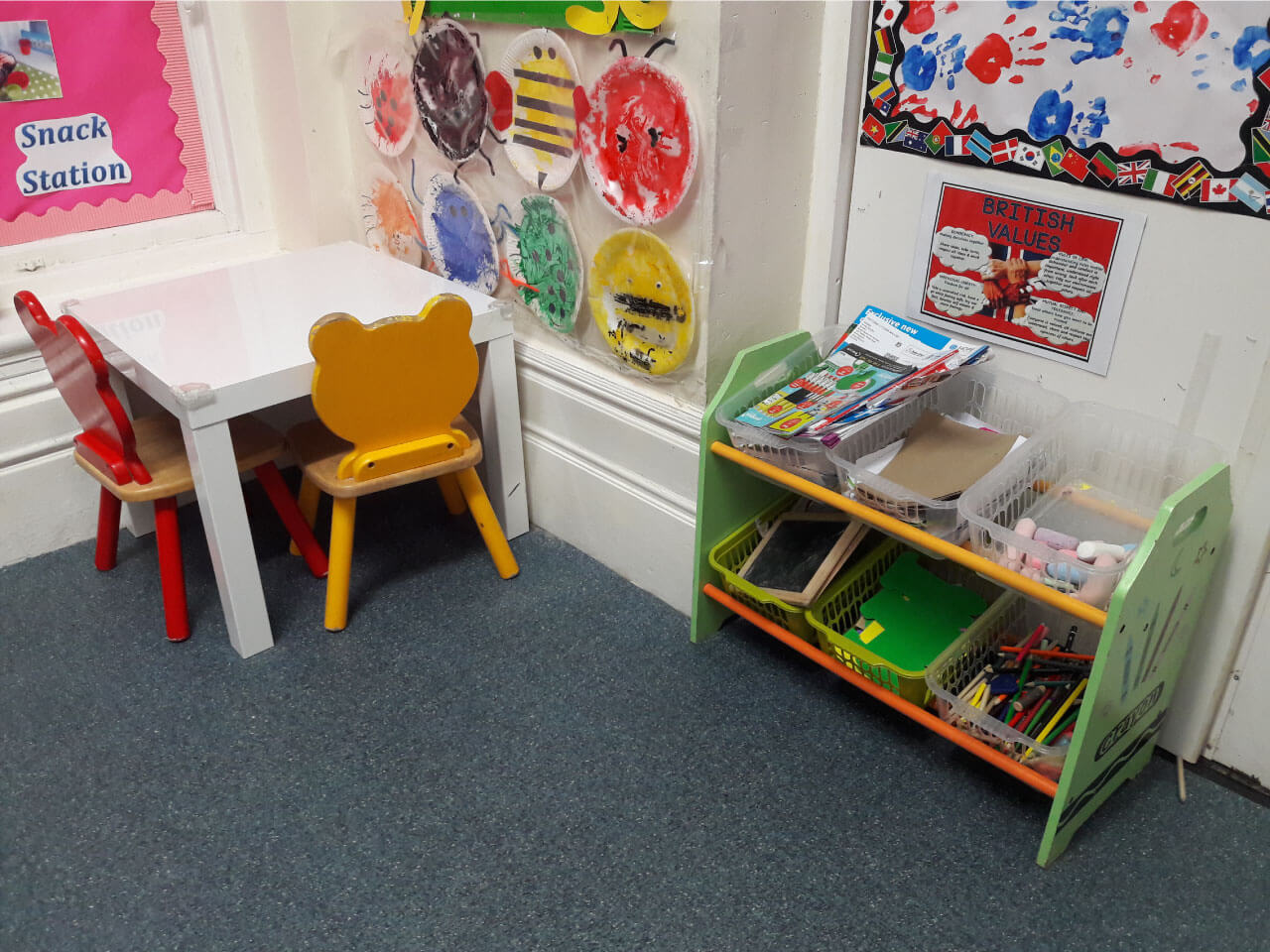 Colourful play area for Toddlers