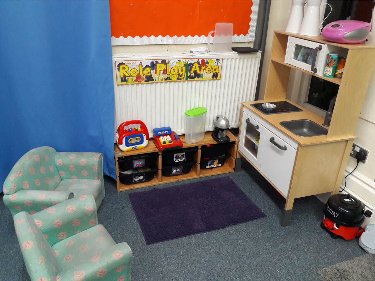 Role play area for curious toddlers
