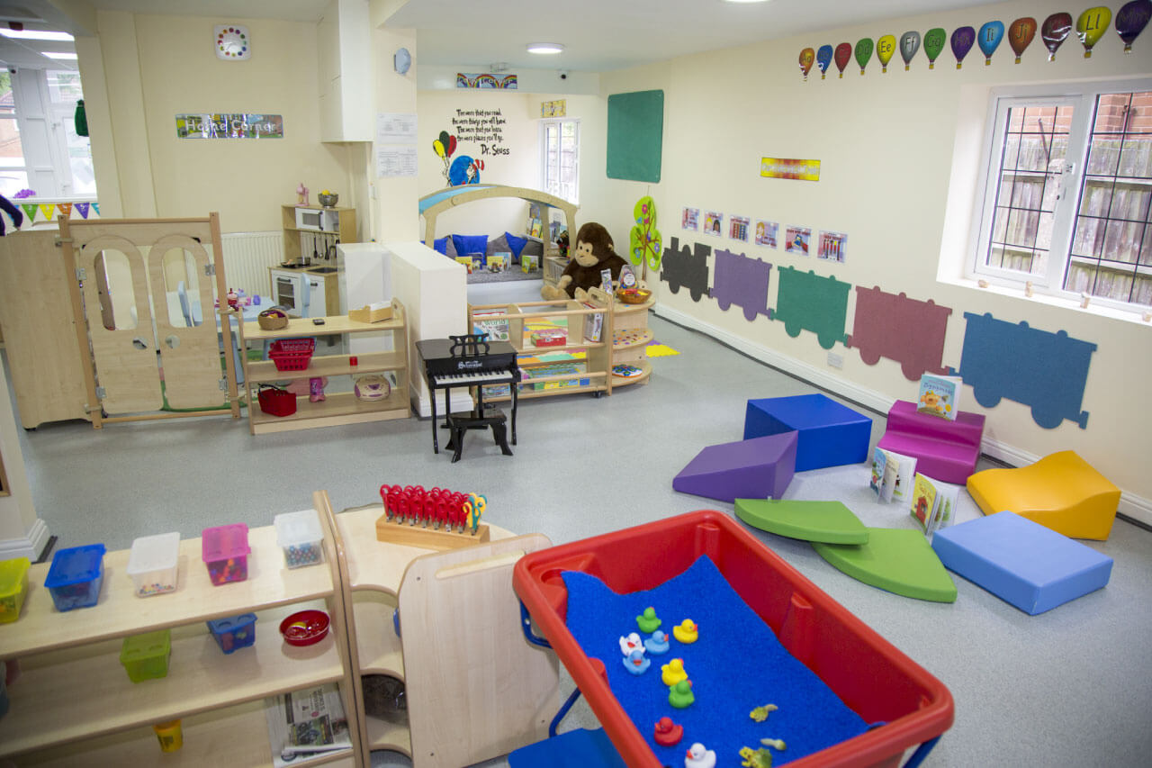Large play area for children to learn and grow together in a safe space