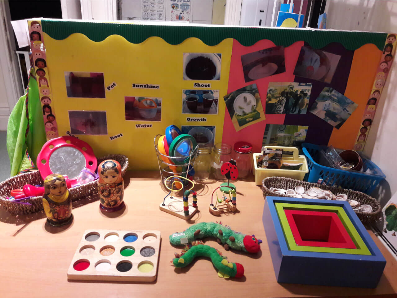 Educational area in nursery to help students learn