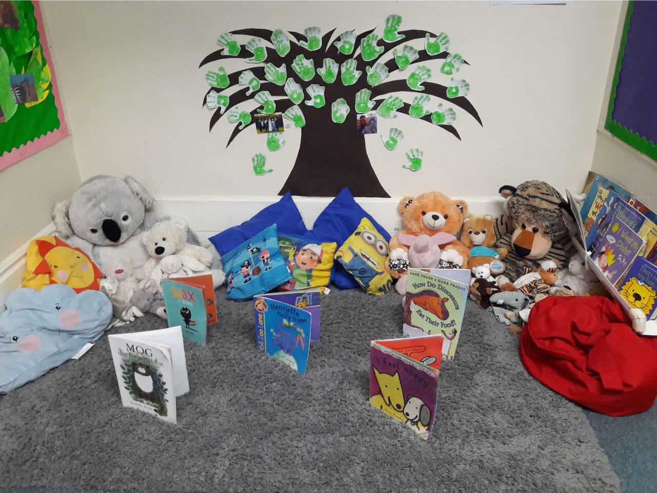 Reading area for toddlers to read books