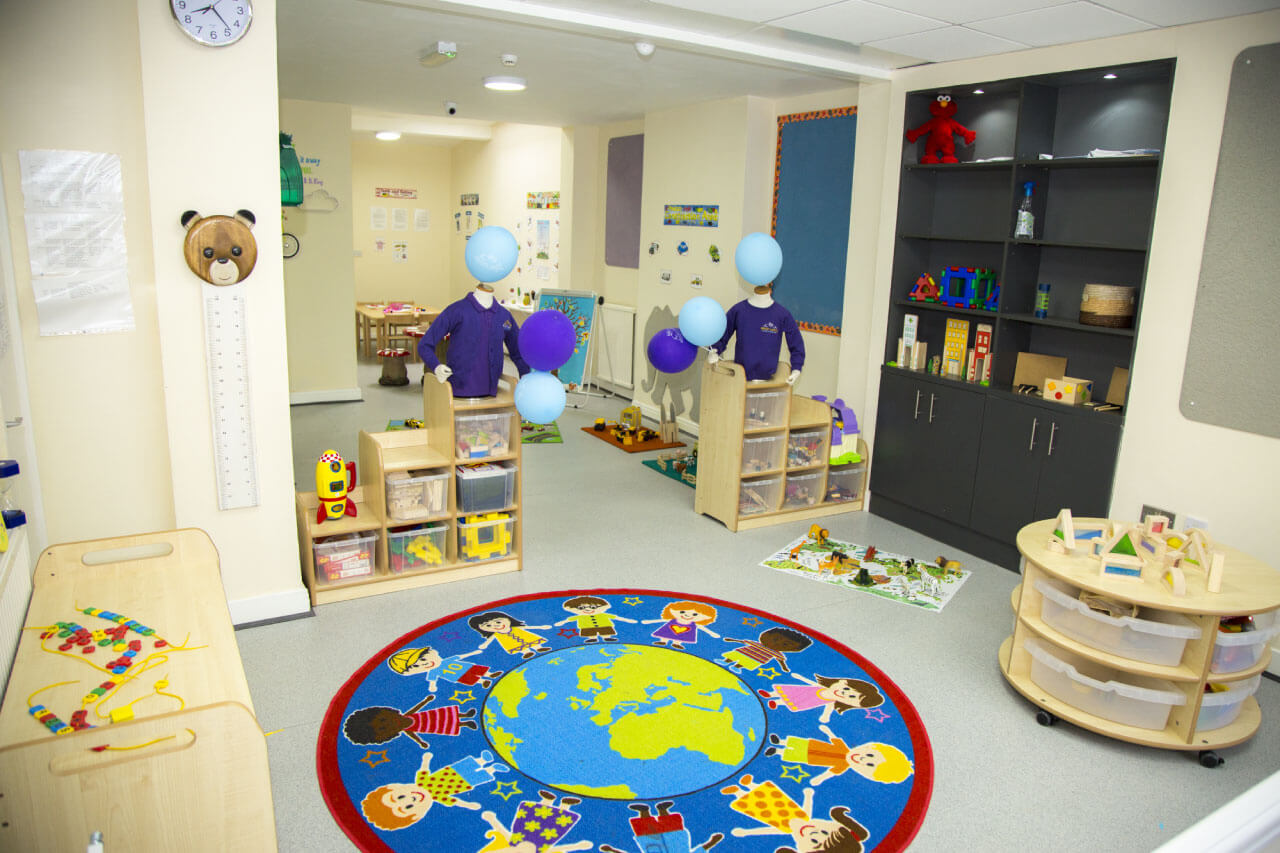 Safe play room at Bright Swans Day Nursery setting in Birmingham