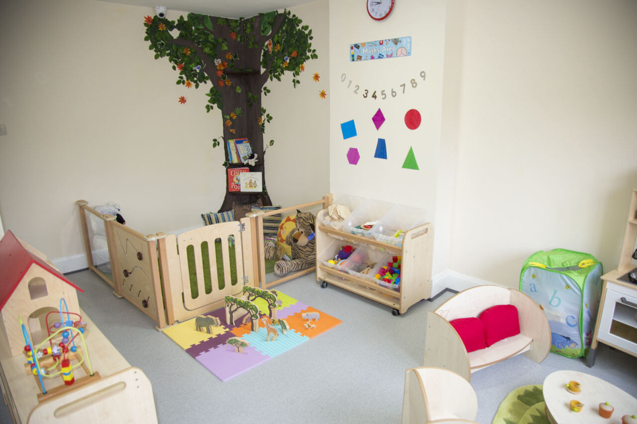 Clean and safe area for babies to play